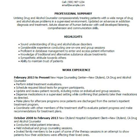 substance abuse counselor resume professional substance abuse cover letter with substance