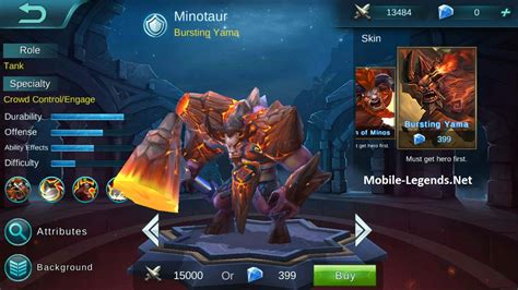 mobile legends minotaur ad tanky build mobile legends