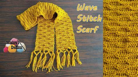 youtube id pattern wave stitch crochet scarf pattern favecrafts com