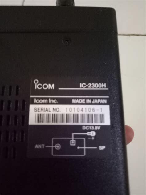 Radio Rig Icom Ic 2300h Original jual radio rig icom ic 2300 h vhf 65 w mic hm133 new ori bergaransi toko solusi radio