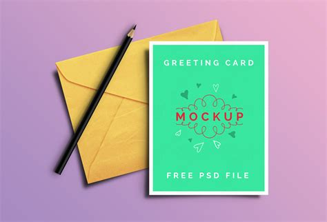 free s day card photoshop templates free greeting card mockup psd templates
