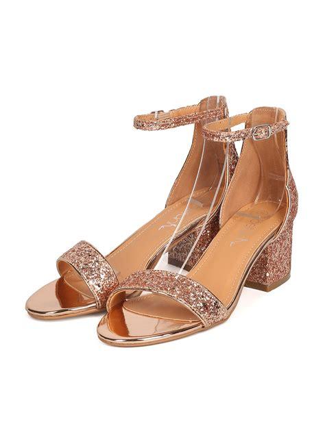 Sandal Glitter sandals betani gc22 glitter leatherette open toe chunky heel ankle sandal