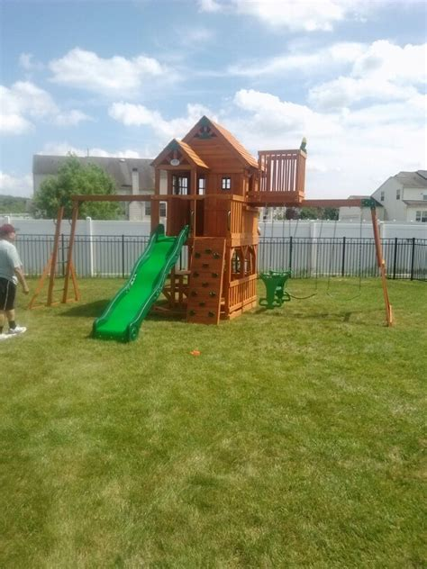 backyard discovery winchester playhouse pin by swingset installer on swingset installer pinterest
