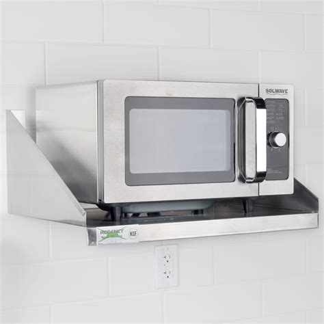 Microwave With Shelf by Regency 24 Quot X 18 Quot Stainless Steel Microwave Shelf