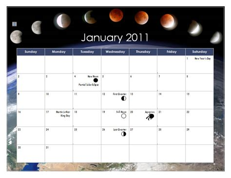 how to make a calendar in word create a 2011 calendar in word 2010