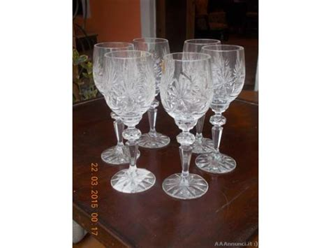 bicchieri in cristallo di boemia bicchieri cristallo di boemia e zuppiera dell 800