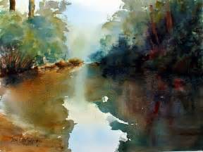 watercolor painting river gallery
