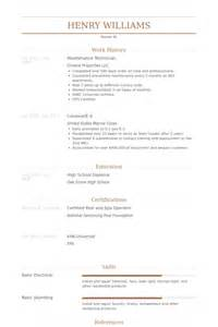 Maintenance Technician Resume by Maintenance Technician Resume Sles Visualcv Resume