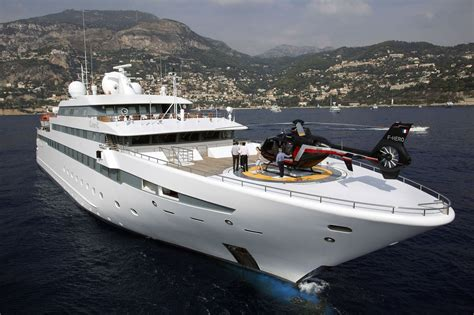 yacht with helicopter ach to display indispensible super yacht helicopters