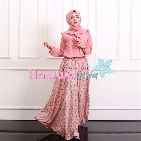 Set Hawwa Pink jual baju muslim trendy set hawwa aiwa