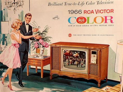 when did color tv began today is national color tv day here s a vintage ad for