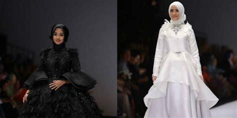 Gaun Pengantin Angsa anggunnya dan ryana dea dalam balutan gaun angsa co id