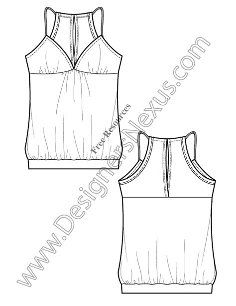 v15 knitwear tank free illustrator fashion flat drawing