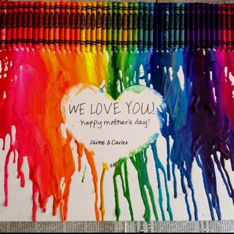 perfect gifts for her crayons meet couture 17 best images about melted crayon mother s day on