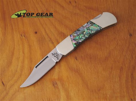 www bearandsoncutlery and 3 quot executive lockback pocket knife abalone
