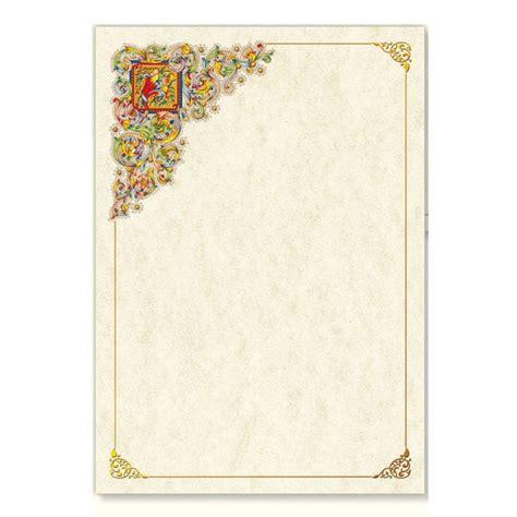 cornice pergamena fogli carta pergamena