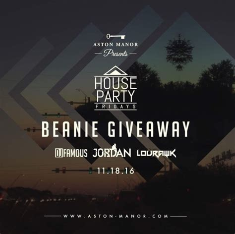 Beanie Giveaway - house party fridays beanie giveaway djjustjordan com