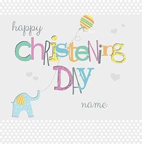 Happy Christening Card Template by Funky Pigeon Make Greetings Cards Gifts