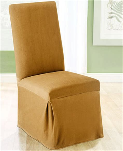 sure fit stretch pique dining chair slipcover sure fit stretch pique long dining room chair slipcover