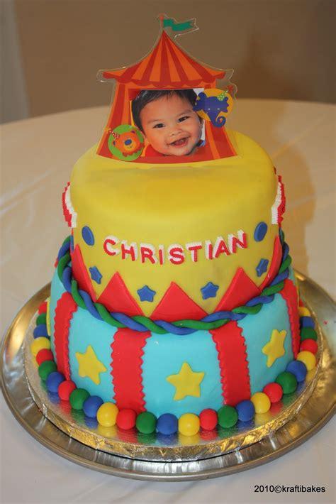 baking  caking  beginners circus cake