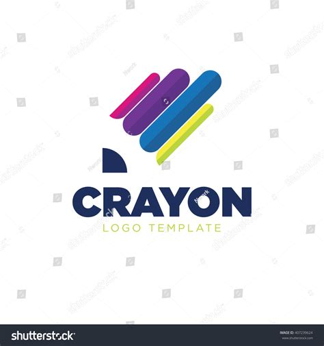 crayon logo paint logo color logo stock vector 407239624