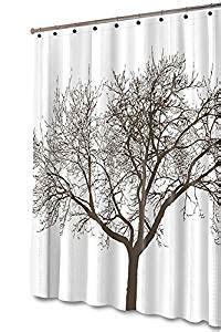 tree shower curtain chocolate com brown tree shower curtain 72x70 brown home