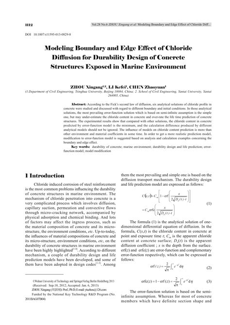 concrete mix design for marine environment modeling boundary and edge effect of pdf download