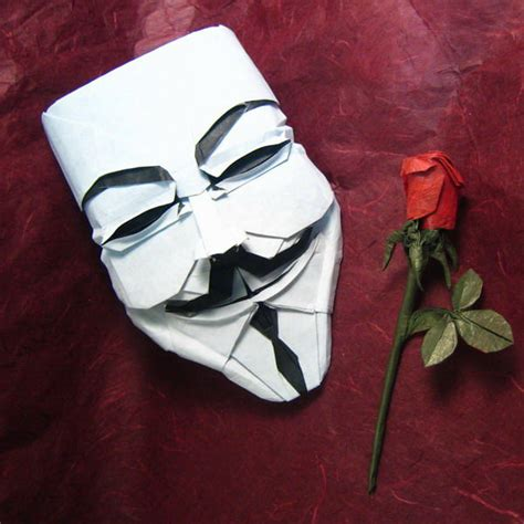 Best Origami Creations - fawkes mask in origami