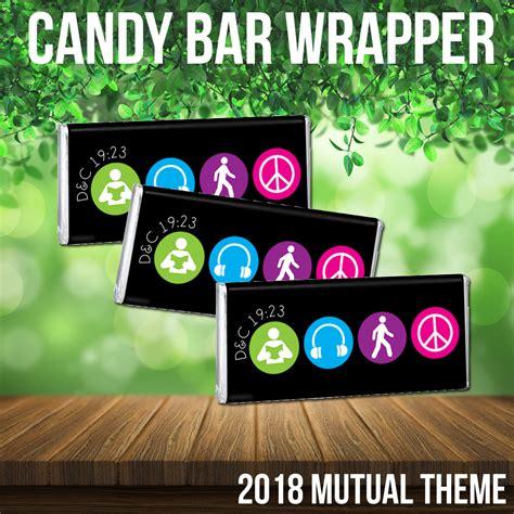 2018 Mutual Theme   Candy Bar Wrapper, symbol