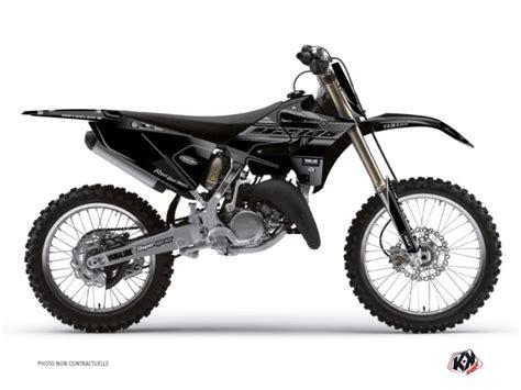 Kyt Cross White Black kit d 233 co moto cross black matte yamaha 125 yz noir