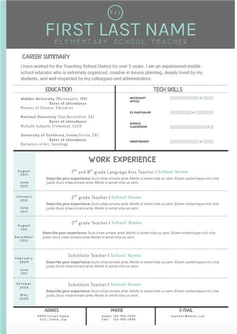 stand out resume templates free mint and gray cover letter and resume templates make your