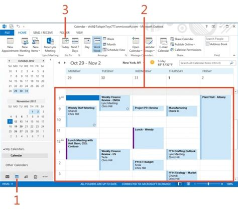Where Is Calendar In Outlook 2013 Managing A Calendar In Microsoft Outlook 2013 Microsoft