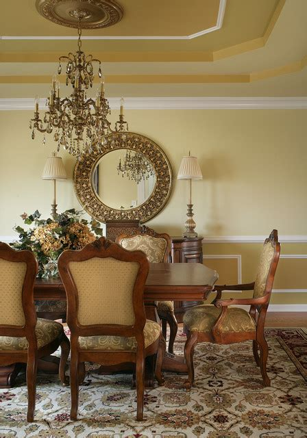 italian inspired decor gold and burgundy dining room traditional dining room