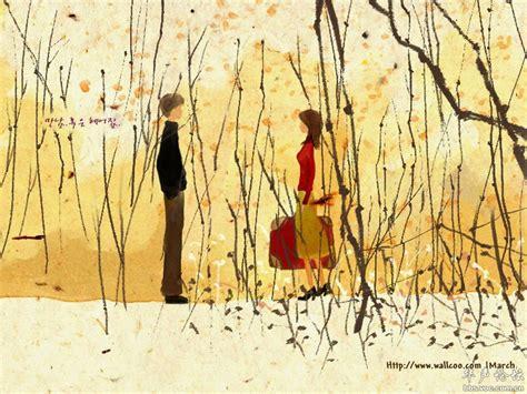 Korean Artwork by 茫茫人海相遇动漫图 茫茫人海相遇图片 动漫两个人相遇图片 鹊桥吧