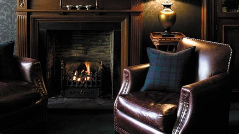 Fireplace Lounge by Hotel Du Vin One Devonshire Gardens Scotland United Kingdom