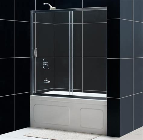 bathtub shower doors dreamline showers infinity shower door frameless bathtub