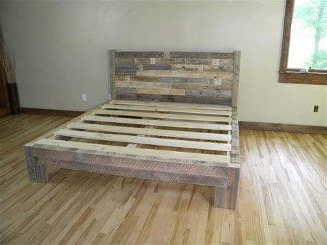 diy pallet bed frame diy pallet bed plans pallet idea