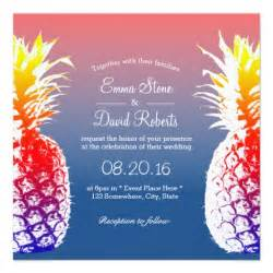 hawaiian pineapple tropical wedding invitations zazzle