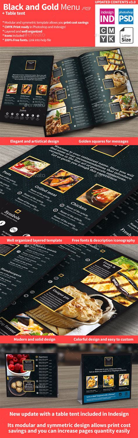 Black And Gold Menu Template By R3generaldesigns Graphicriver Black And Gold Menu Template