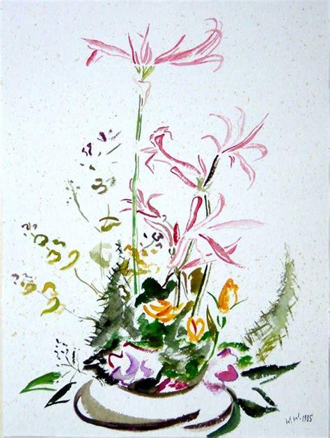 Pflanzen Aus 1985 by Blumengesteck 1985 Malerei Pflanzen Wolfgang