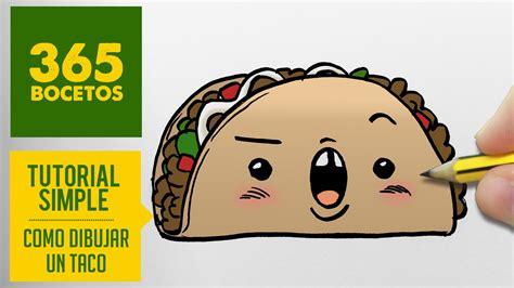 imagenes de tacos kawaii como dibujar un taco kawaii paso a paso dibujos kawaii