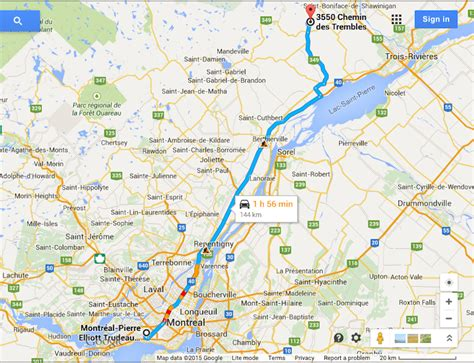 distance travelled map a snowy road trip from montreal to lanaudiere the road