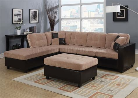 acme sectional 51330 milano reversible sectional sofa by acme