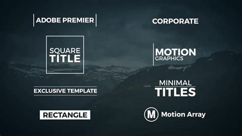 8 Minimal Titles Premiere Template Premiere Pro Templates Motion Title Templates