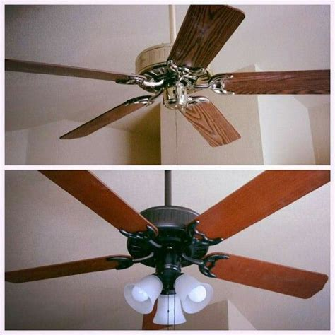 how to paint a ceiling fan before and after ceiling fan painted brass with rubbed