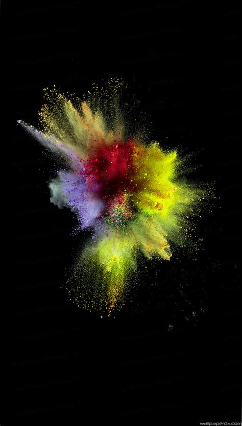 colorful explosion wallpaper colorful dust smoke burst explosion art ios9 full hd