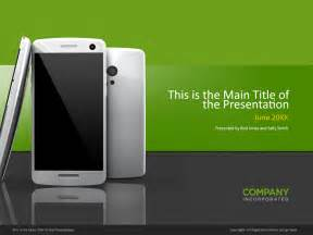 Android Powerpoint Template by Smartphone Powerpoint Cover Template Norebbo