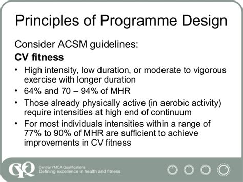 design guidelines for gymnasium programming gym based sessions l3