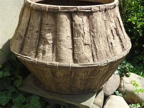 large fiberglass planters large adirondack motiffe fiberglass and resin garden planter for sale at 1stdibs
