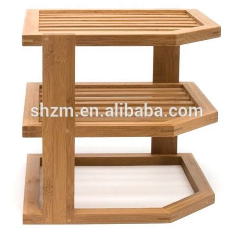 Corner Plate Shelf by Bamboo 3 Tier Corner Shelf Bamboo Dish Shelf Bamboo Plate